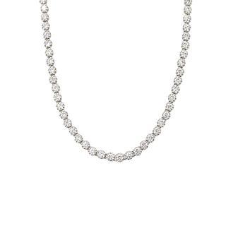 9.75ct Round Brilliant Cut Diamond Necklace