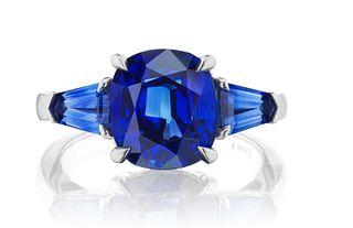 6.78ct Sapphire Ring Set In Platinum