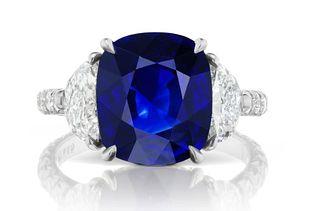 5.91ct Sapphie And 1.72ct Diamond Ring