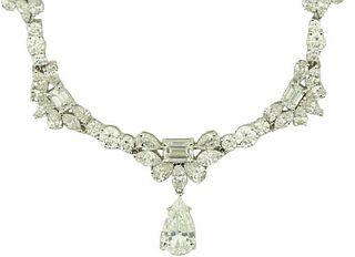 Platinum 29.50ct Diamond Necklace
