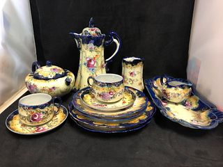 Hand painted China Tea set