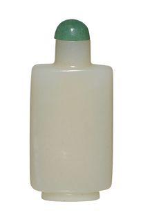 Chinese White Jade Snuff Bottle, 18-19th Century