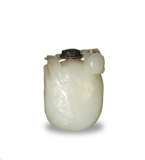 Chinese Jade Fruit-Form Snuff Bottle, 18-19th Century