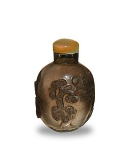 Chinese Carved Crystal Snuff Bottle, 19th Century