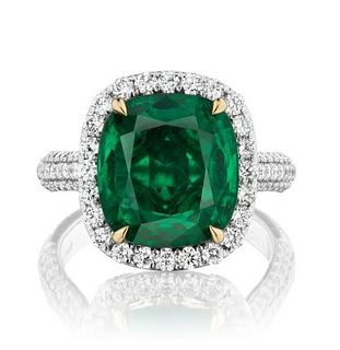 6.99ct Emerald And 1.60ct Diamond Ring