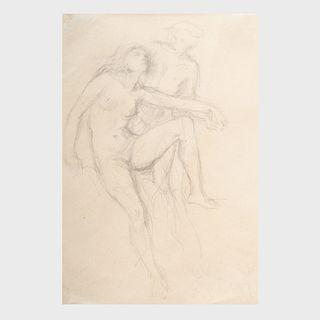 After Gustave Klimt (1862-1918): Two Figures