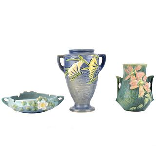Three (3) Roseville Pottery Tableware
