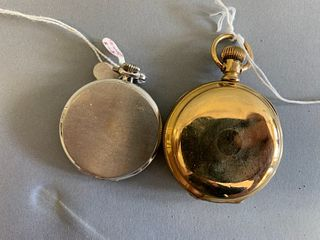 Two pocket watches to include Black Star and Gorham, open face pocket watch, 15 jewel, 43mm along with Waltham open face pocket watch, 51.7mm.
