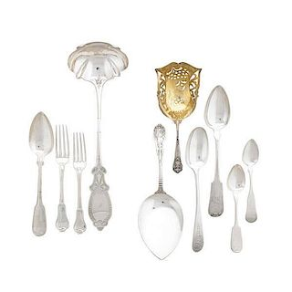 AMERICAN ORNAMENTAL OR PATENT SILVER FLATWARE