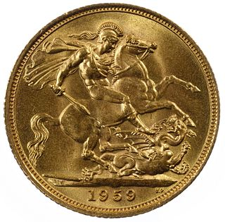 England: 1959 Gold Sovereign