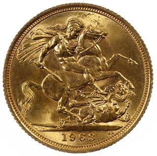 England: 1963 Gold Sovereign