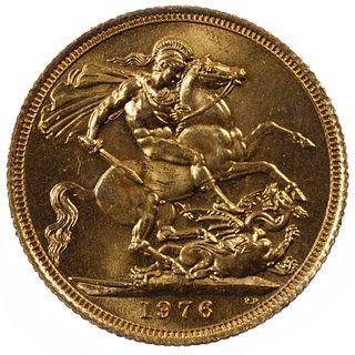 England: 1976 Gold Sovereign