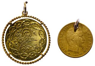 World: Gold Coins Mounted as Jewelry
