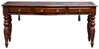 Comitia Molina Carved Walnut Desk