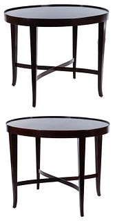 Barbara Barry for Baker Mahogany Occasional Tables