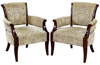 Barbara Barry for Baker Upholstered Armchairs