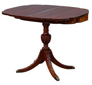 Empire Style Mahogany Pedestal Table