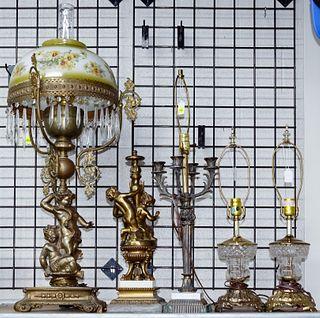 Glass / Metal Lamp Assortment