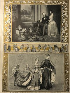 1842 Giclee /The Graphic/ Queen Phillipa/Edward 111