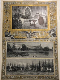 1850 Giclee/The Graphic Christmas Tree Windsor Castle