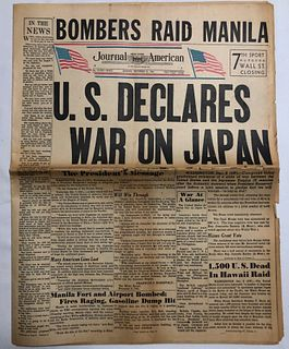 US DECLARES WAR ON JAPAN Journal American