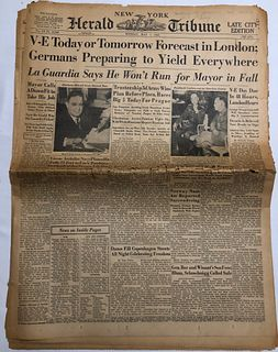 V-E Day Herald Tribune May 7, 1944 full edition