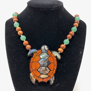 Sea Turtle Inlay Shell Necklace