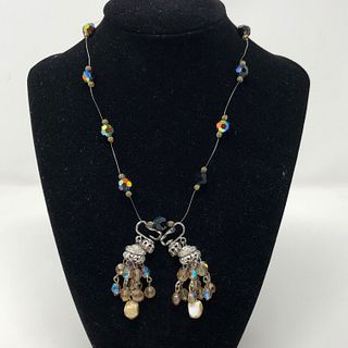 Aurora Borealis Necklace and Earrings