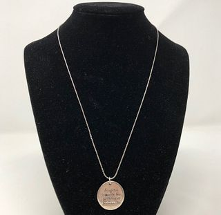 Splendid Signed Sterling Charm Necklace