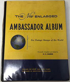 Stamp Album -The New Enlarged AMBASSADOR ALBUM for