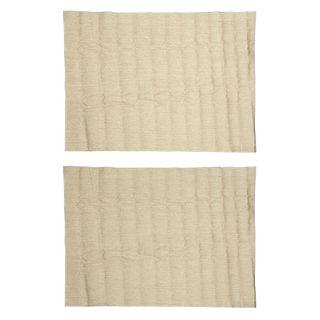 Par de tapetes. Siglo XX. Elaborados en yute color beige. 343 x 246 cm (mayor).
