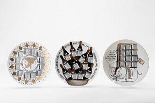 Piero Fornasetti (1913-1988)  - Set 3 calendar dishes, 1973, 1977, 1978
