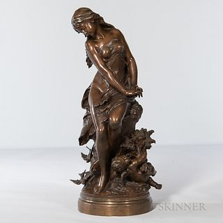 Mathurin Moreau (French, 1822-1912)       Bronze Depiction of L'Été
