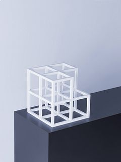 Sol LeWitt (American, 1928-2007) Cube without a Cube, 1996