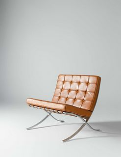Ludwig Mies van der Rohe (German-American, 1886-1969) Barcelona Lounge Chair, Knoll International, USA