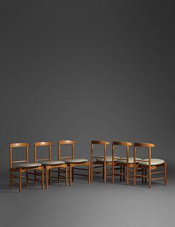 Greta Magnusson Grossman(Swedish, 1906-1999)Set of Six Dining Chairs, Glenn of California, USA