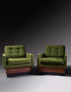 Adrian Pearsall (American, 1925-2011) Pair of Lounge Chairs, Craft Associates, USA