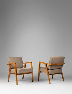 Franco Albini (Italian, 1905-1977) Pair of Lounge Chairs, Knoll, USA