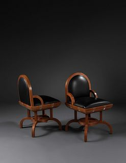 Wendell Castle (American, 1932-2018) Pair of Chairs, c. 1989