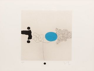 Victor Pasmore (British, 1908-1998) Sensory World (four plates from the suite of seven), 1996