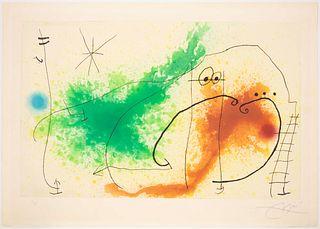 Joan Miro (Spanish, 1893-1983) Partie de Campagne IV, 1967