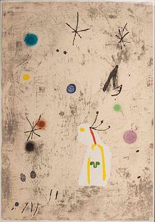 Joan Miro (Spanish, 1893-1983) Personatge I Estels III, 1979