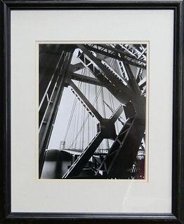 "EDWARD STEICHEN ""GEORGE WASHINGTON BRIDGE"" PHOTO"
