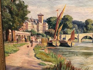 FRANCIS DODD 1874-1949 OIL PAINTING ON CANVAS SIGNED AND DATED F.DODD 29