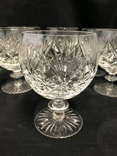 SET OF 6 WEBB AND CORBETT ENGLAND WATER GOBLETS