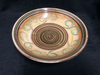 POTTERY BOWL HAND MADE AND SIGNED J -GLYN COLLEDGE-ENGLAND