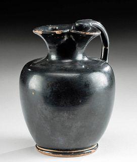 Gorgeous Greek Attic Blackware Trefoil Oinochoe
