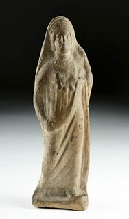 Greek Hellenistic Pottery Standing Woman, ex-Bonhams