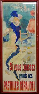 "ESTATE OF ""LAUREN BACALL"" JULES CHERET 1890 POSTER"