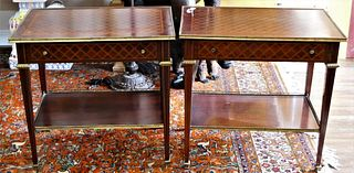PAIR OF LOUIS XV STYLE MID CENTURY END TABLES